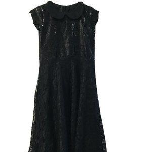Girls Black Shiny  Dress